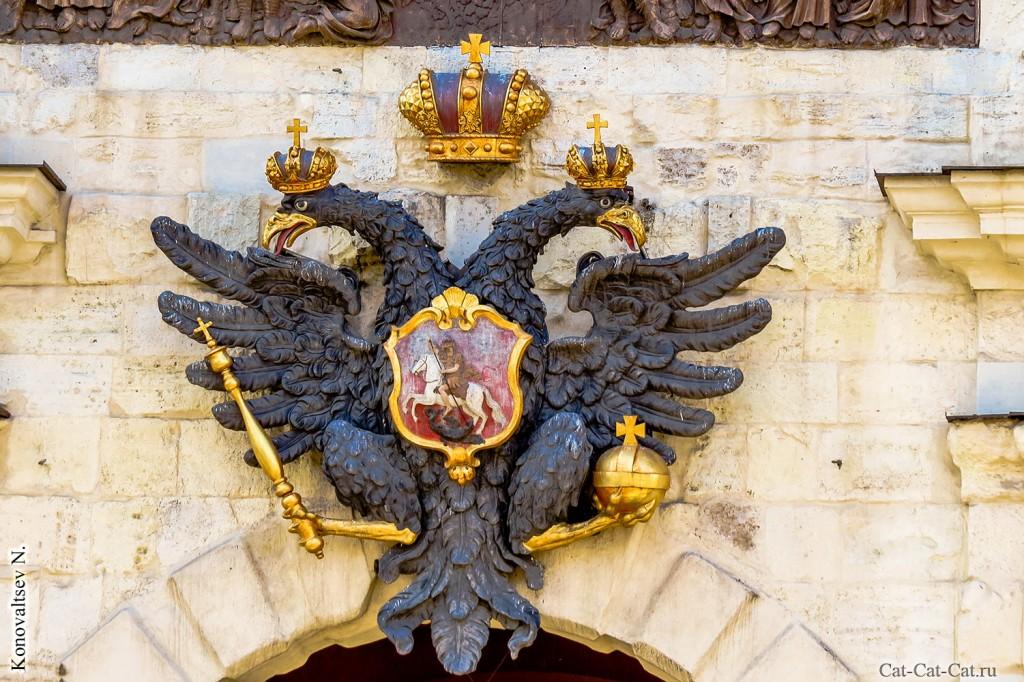 Орёл на Петровских воротах, Петропавловская крепость
