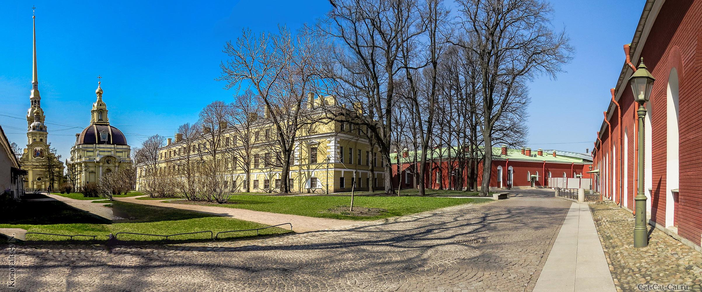 Петропавловский собор и Великокняжеская усыпальница. Панорама Санкт-Петербурга.