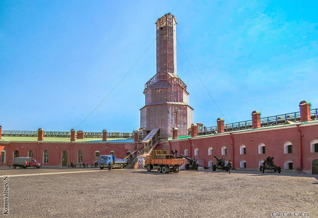 Нарышкин бастион, пушки (Петропавловская крепость)