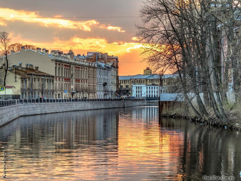 Река Мойка, закат