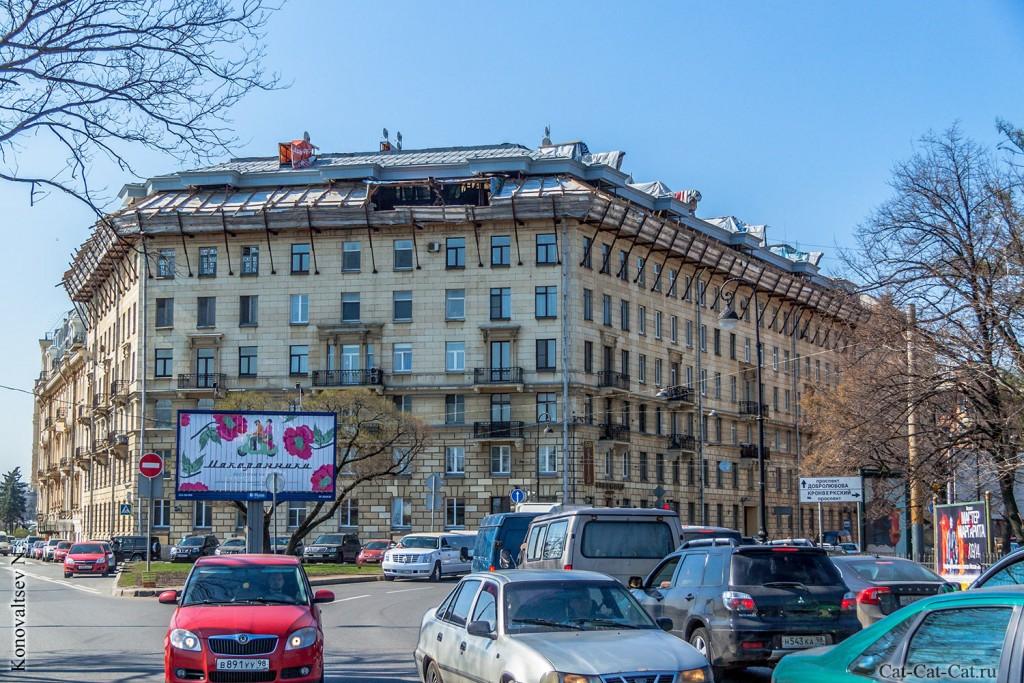 """просп. Добролюбова, д. 2, 1954г, архитектор Н.М. Назарьин, Отель """"Традиция"""""""