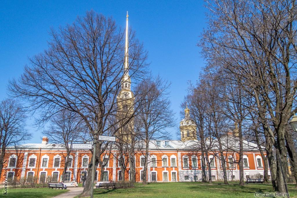 Петропавловский собор и Комендантский дом