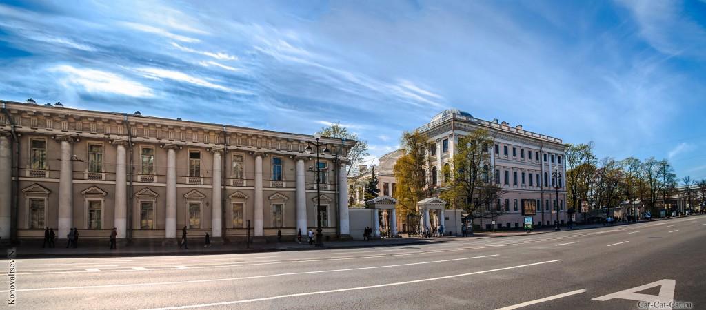 Бывшее здание Кабинета Его Императорского Величества и Аничков дворец