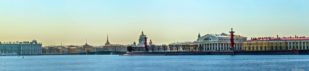 Стрелка Васильевского острова, панорама