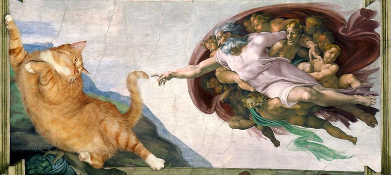 Картины с котами питер