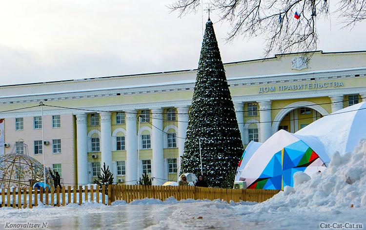 Предновогодний Ульяновск, зима 2018