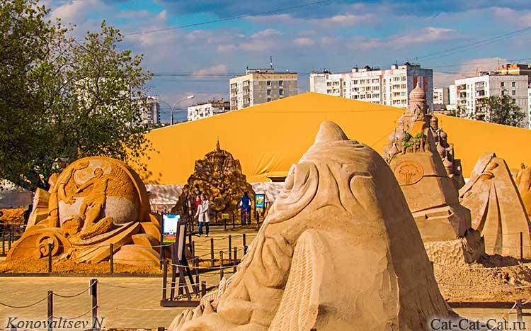 Выставка скульптур из песка в Коломенском